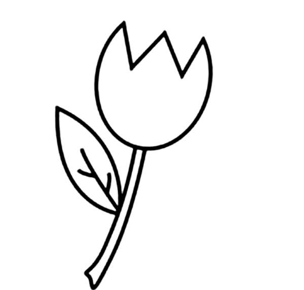 An Illustration Of Single Finged Tulip Coloring Page Kids Play Color Coloring Pages Flower Coloring Pages Butterfly Coloring Page