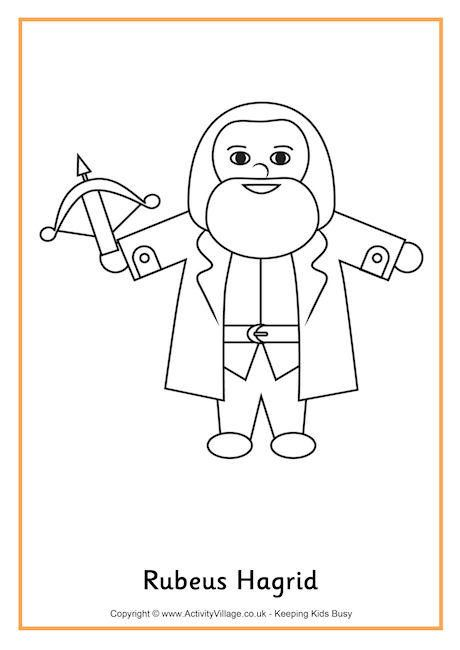 Hagrid colouring page