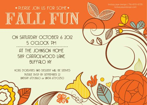 Satisfactory image for free printable fall party invitations