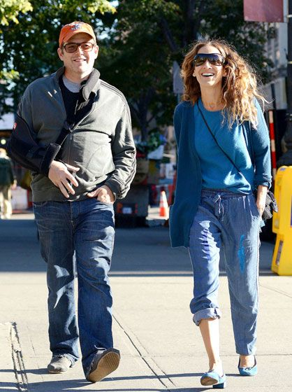 Sarah Jessica Parker and husband Matthew Broderick stroll in the West Village