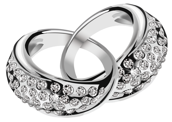 Silver Rings With Diamonds Png Clipart Picture Grafika