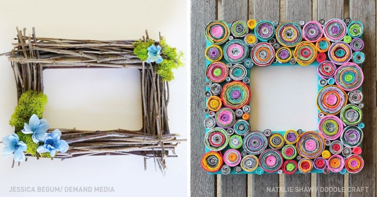 17 Inventive Ways To Make Your Own Unique Picture Frame Picture Frame Crafts Picture Frame Decor Unique Picture Frames