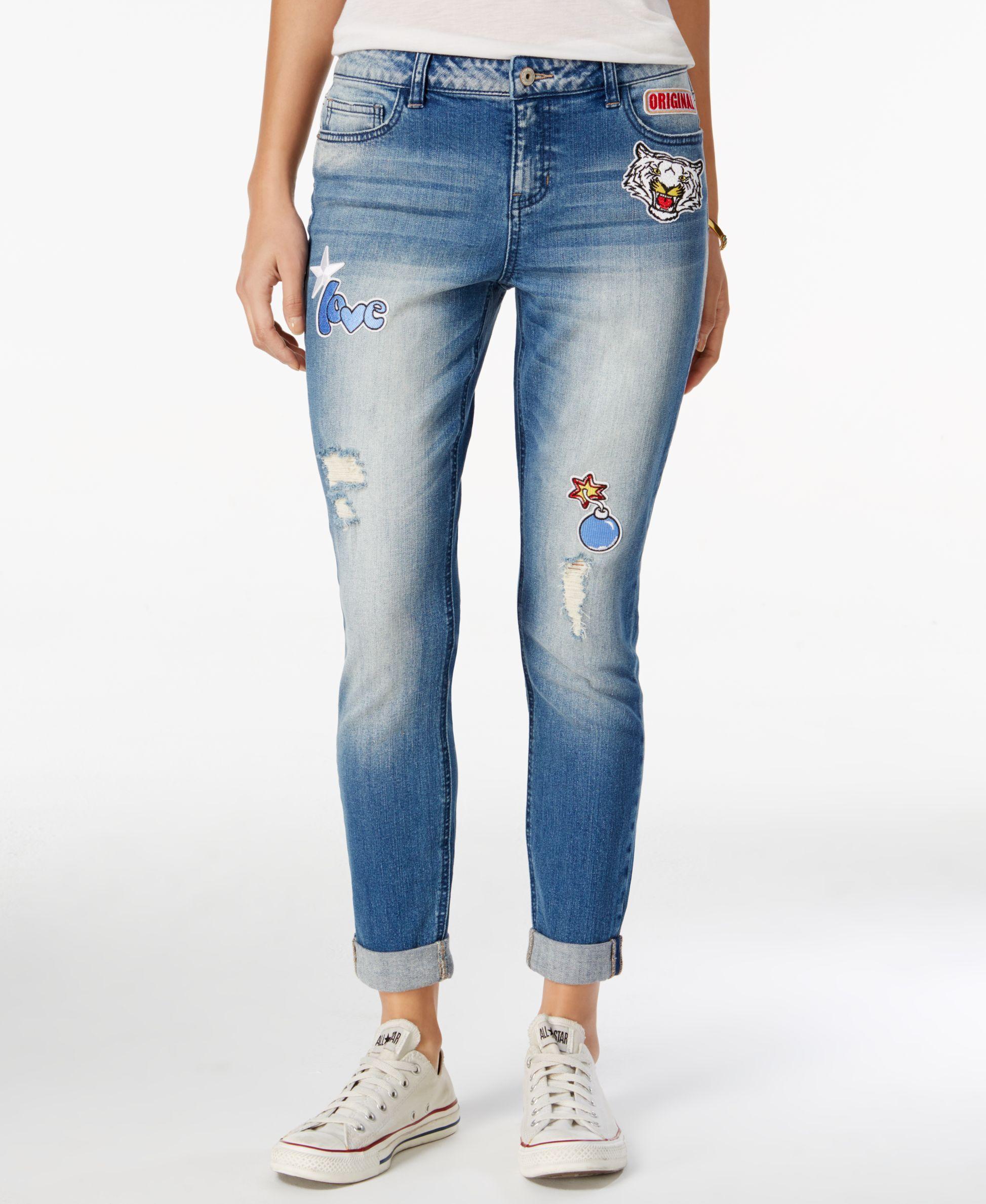 b1356cf5e4e Vanilla Star Juniors  Ripped Patch Skinny Jean