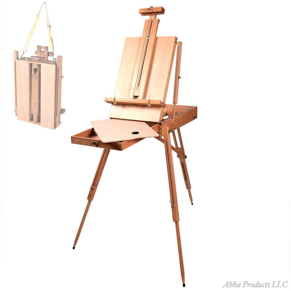 portable wood artist easel paint sketch draw tripod board stand box