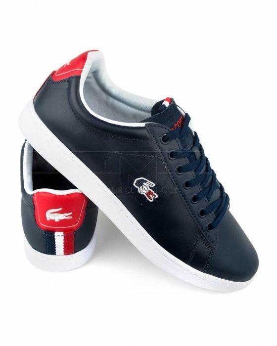 7ac2196fafa Zapatos Lacoste Carnaby Evo - Azul Marino