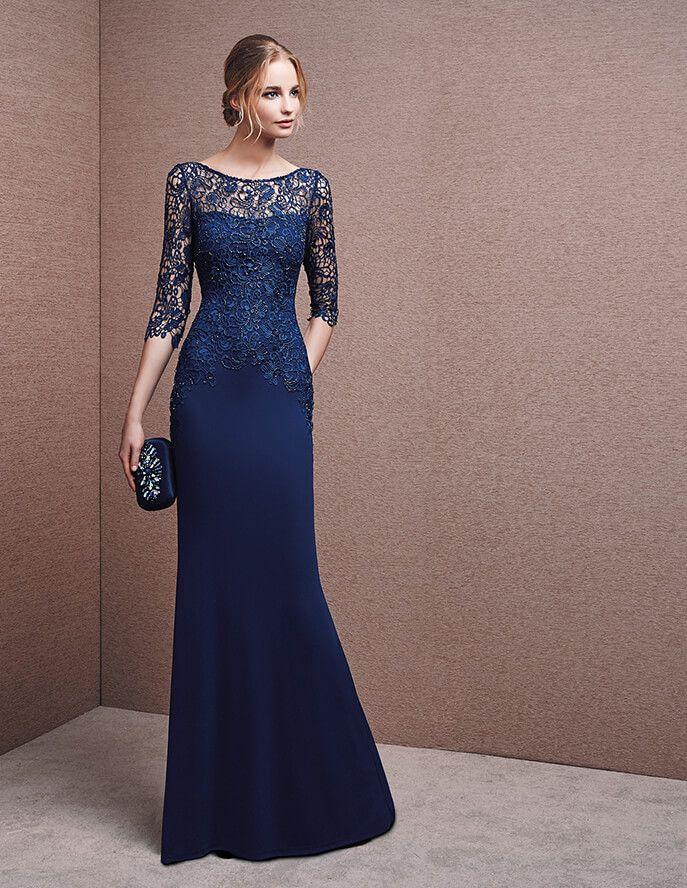 eae10f8dd Vestidos de fiesta largos - Descubre los mejores en color azul ...