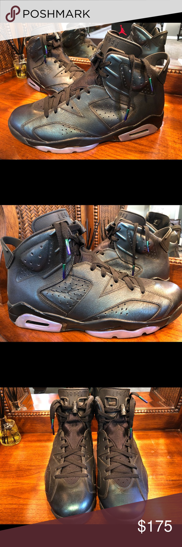"""b130ca34f8f9 Air Jordan 6 Retro """"All Star"""" Premium 🔥 🔥 This Air Jordan 6 features an iridescent  leather upper that changes colors and also rubs off similar to the """" ..."""