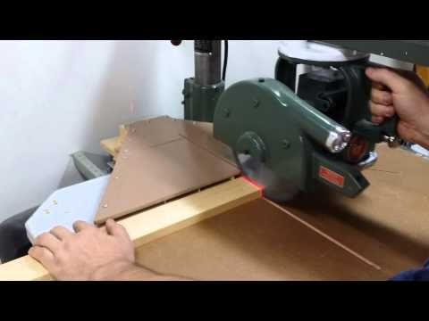 My Radial Arm Saw Dust Collection Setup Youtube Radial Arm Saw Dust Collection Old Tools