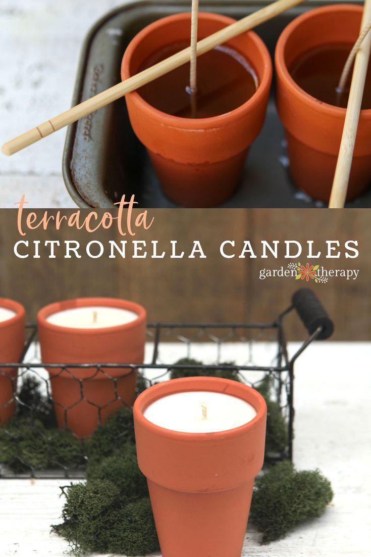 Bug Off, Naturally: Terracotta Pot Citronella Candles | Garden Pest ...