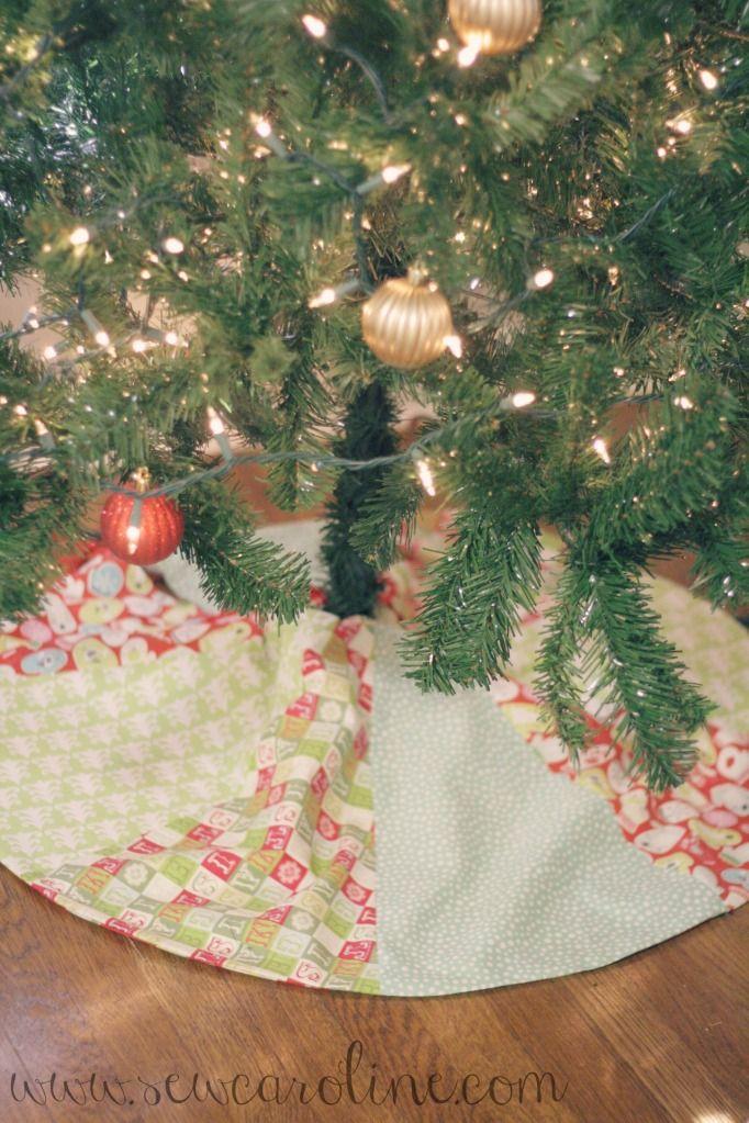 DIY Christmas tree skirt Holiday Sewing, Crafting, + Decor