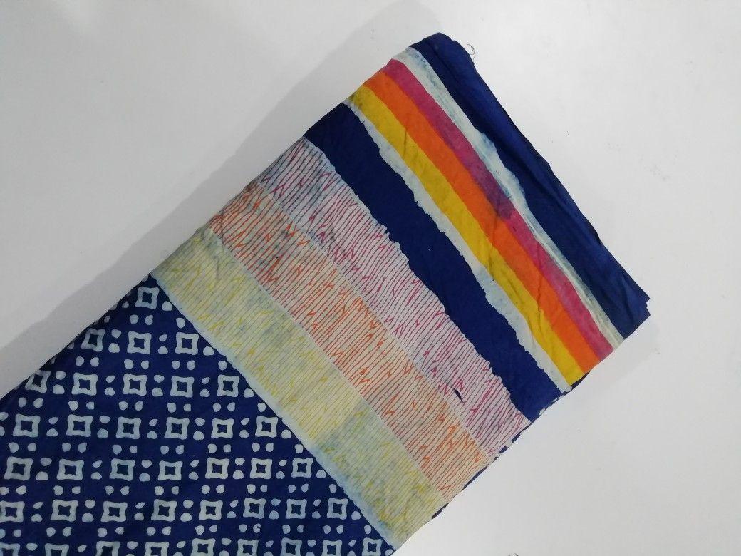 hand block printed chanderi fabric garments fabric textile fabricHand Block