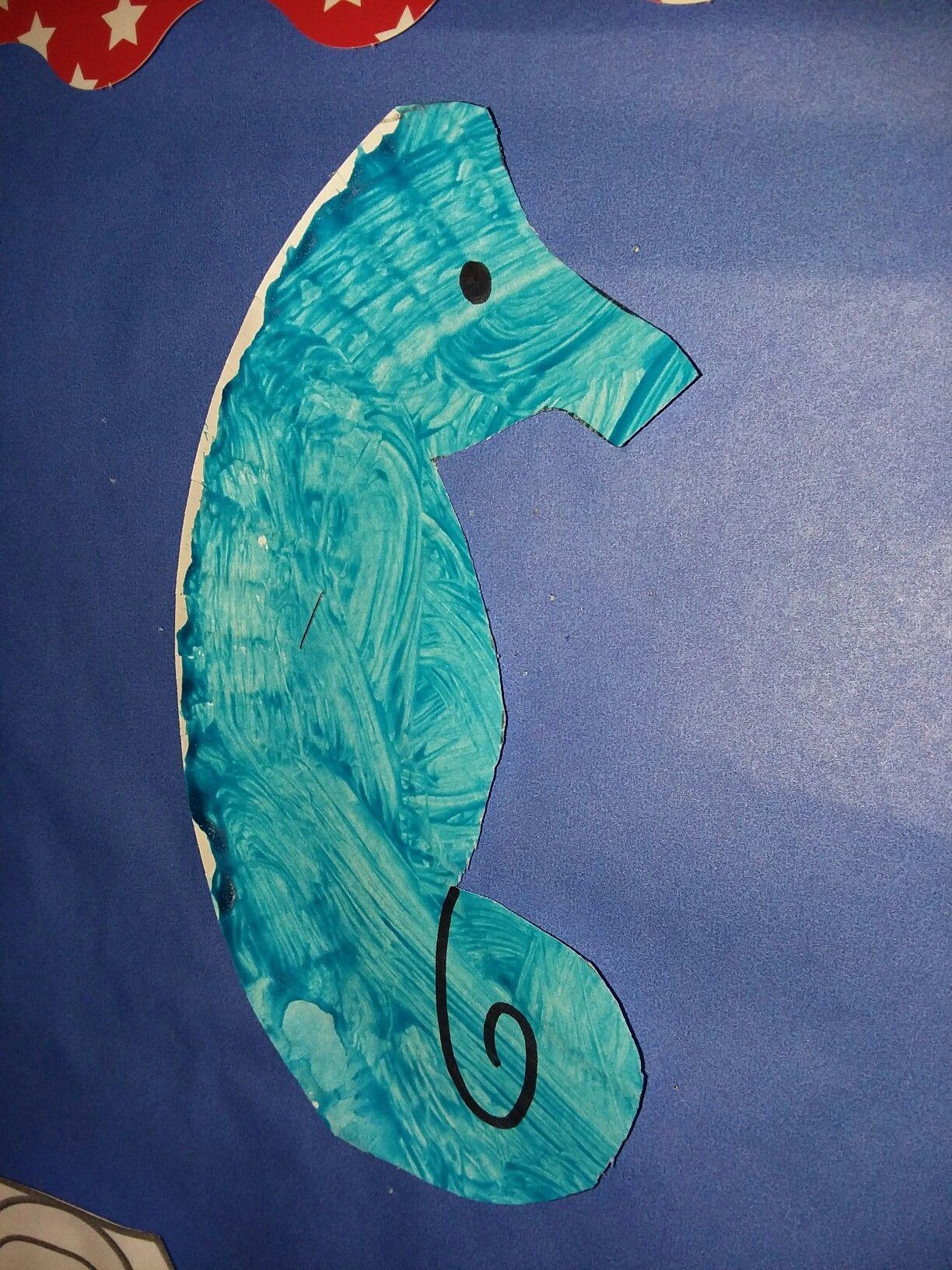 Blue Seahorse Ocean Sea