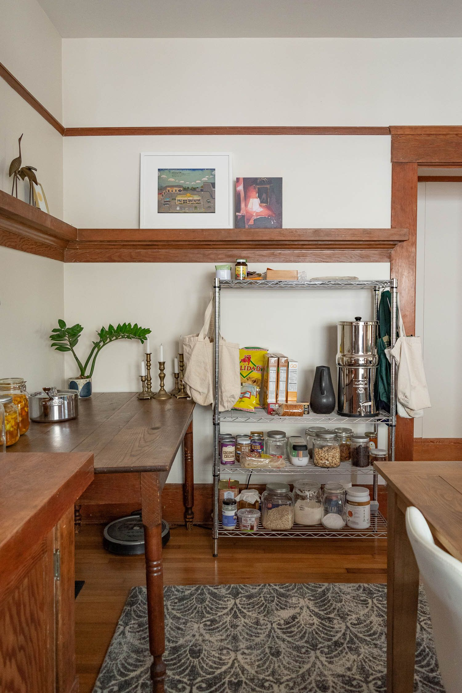 How We Re Living Without A Kitchen During The Remodel A Tour Of Our Temporary Cooking Space In 2020 Remodel Kitchen Living Renovation Project