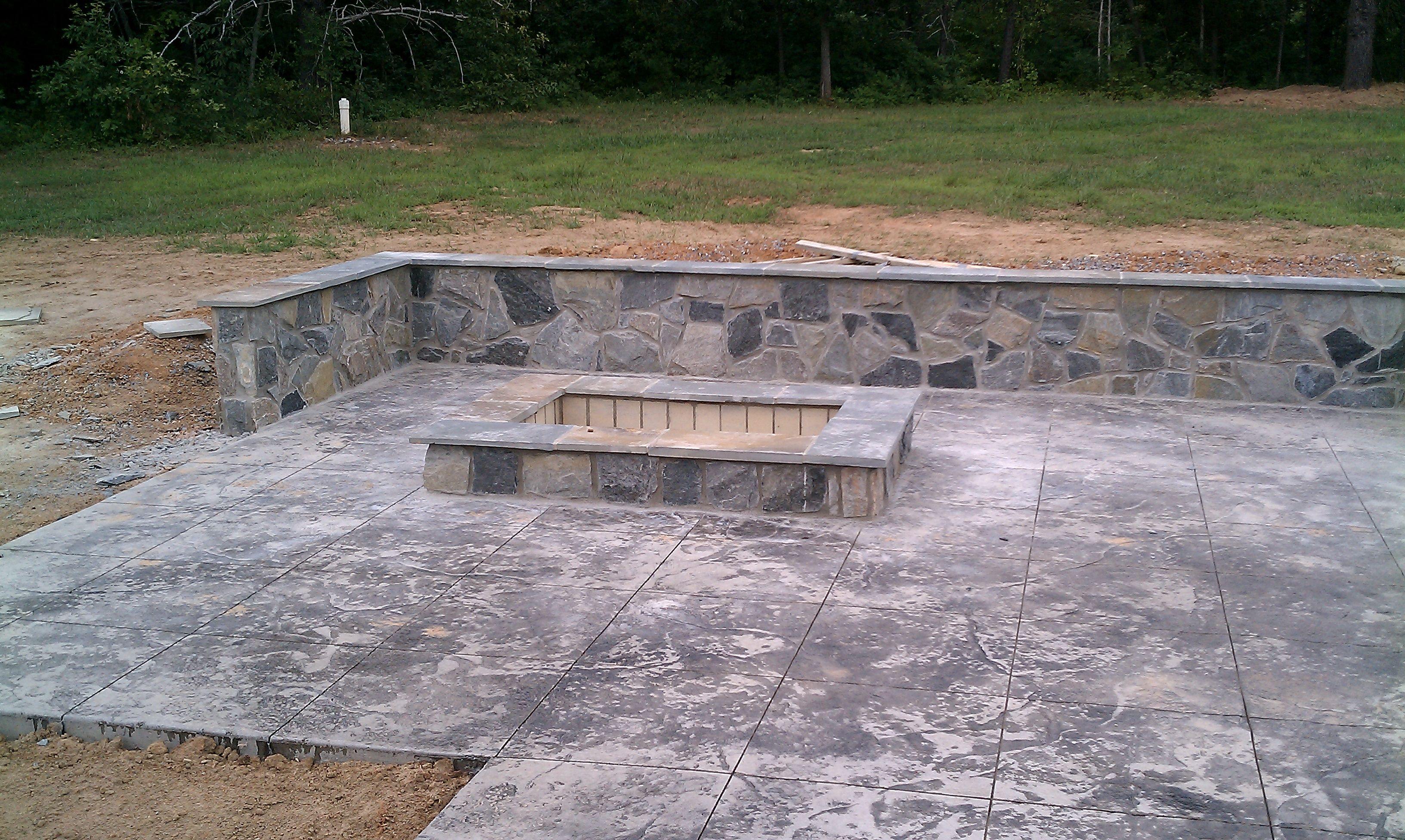 homemade fire pits northern virginia rectangular firepit with