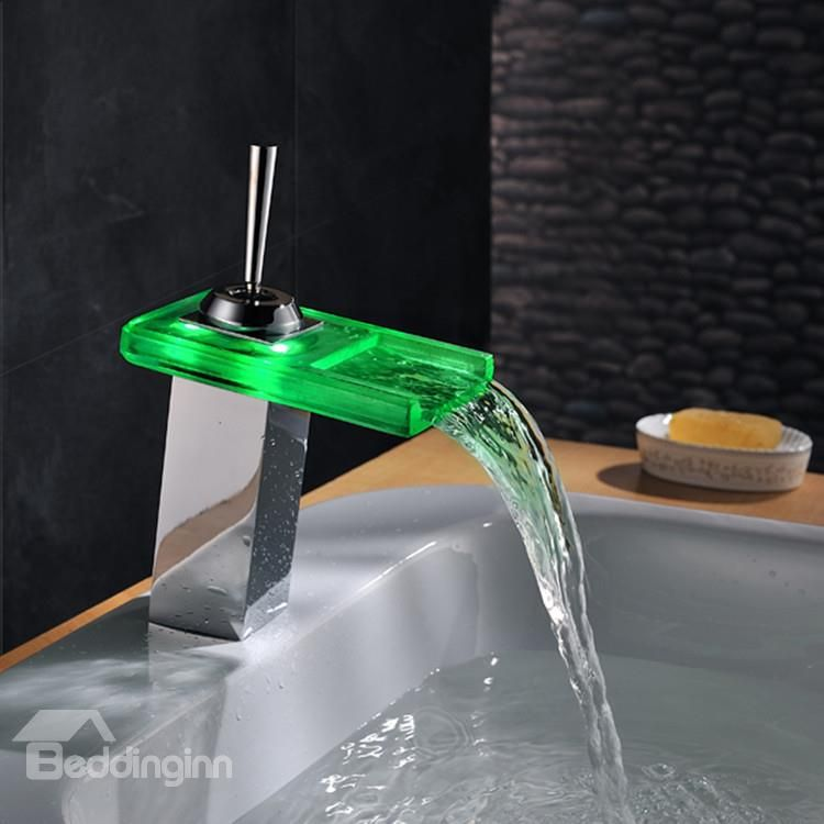 Amazing One Handle LED Color Changing Bathroom Sink Faucet ...
