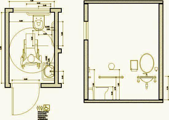 Medidas Banheiro Planta Baixa : Banheiro para cadeirantes medidas pesquisa google