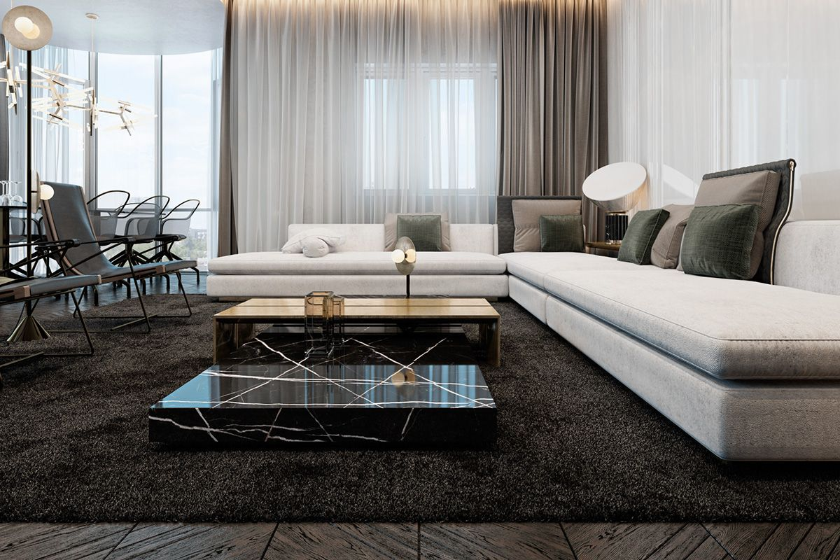 Three Luxurious Apartments With Dark Modern Interiors Luxury