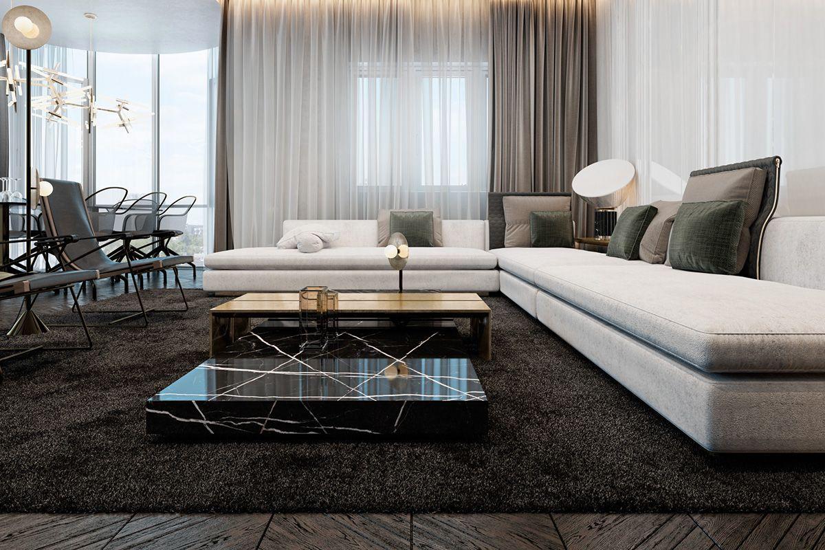 Three Luxurious Apartments With Dark Modern Interiors Luxury