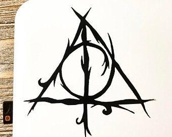 Harry Potter Deathly Hallows Etsy Harry Potter Deathly Hallows Potter Etsy