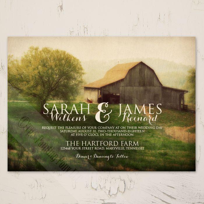 wedding invitation rsvp wording funny%0A Country Horse Barn Wedding Invitation     pk   The Painting Pony