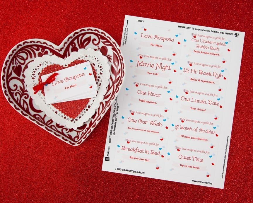 Free Lunch Coupon Template Best These Easytocustomize Love Coupons Are Such A Fun Gift Idea For .