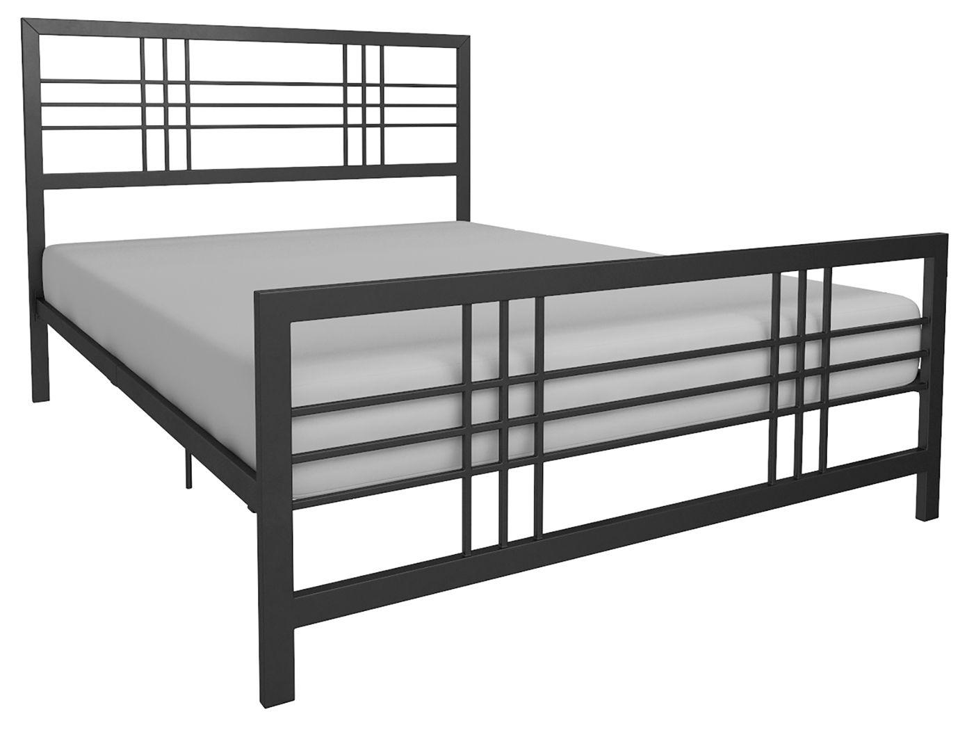 Burbank Metal Full Bed Black Queen Metal Bed Metal Beds Furniture