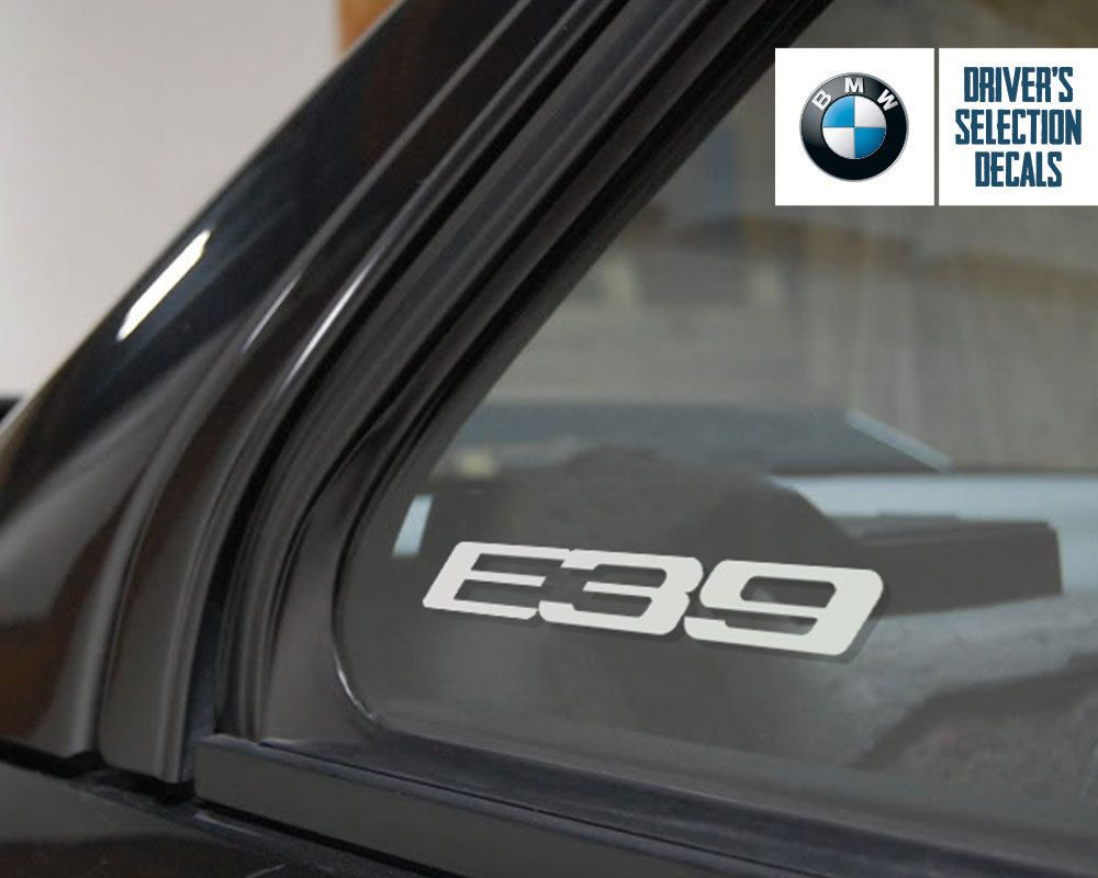 BMW E39 Logo window sticker decal Euro Style | Bmw e39, BMW and Cars