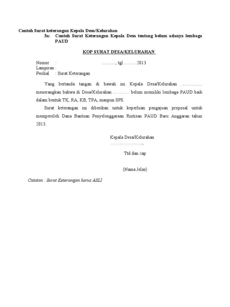 Contoh Kop Surat Untuk Proposal Surat Kop Surat Proposal