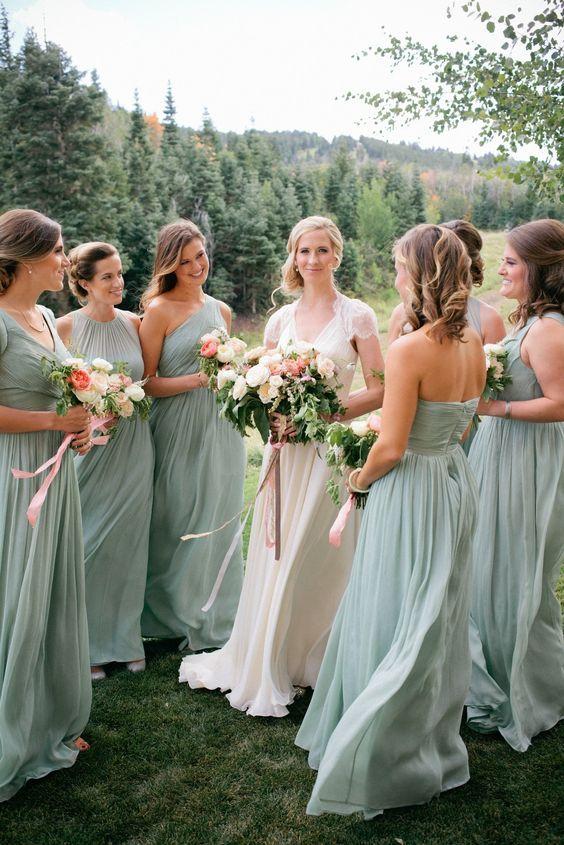 Sage Green Bridesmaid Dresses Flow