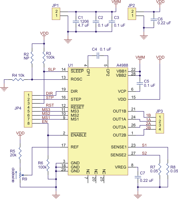 6574420b3f4d9e6904c93b33129e1bad this breakout board for allegro's a4988 microstepping bipolar a4988 wiring diagram at crackthecode.co