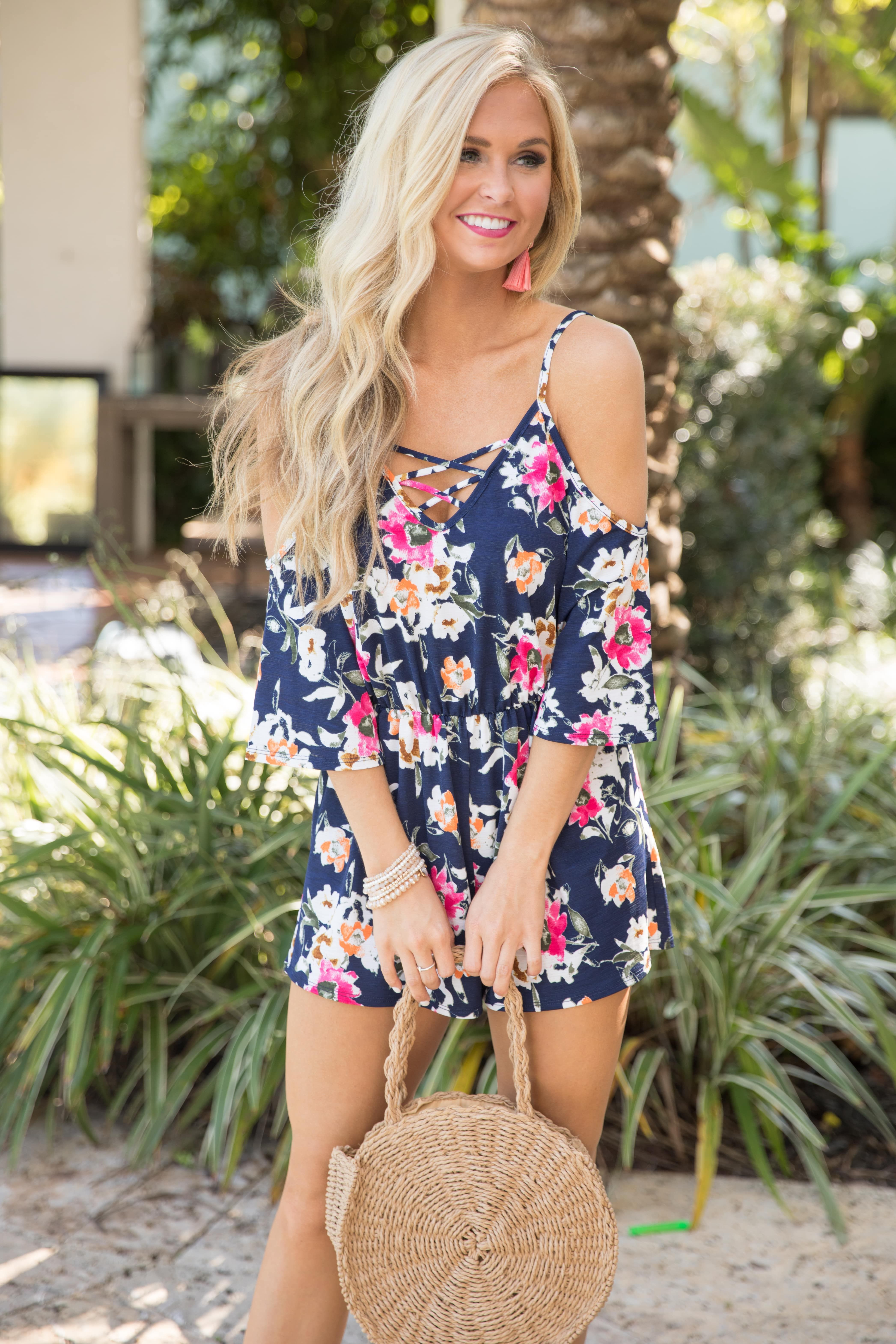 f1a7e6f374c0 This sweet floral romper is the perfect combination of spring prints and  summer fun!