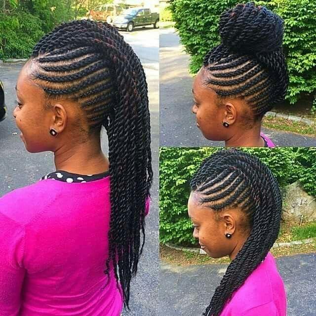 Little Girl Natural Hair Braided Cornrows Black Girl