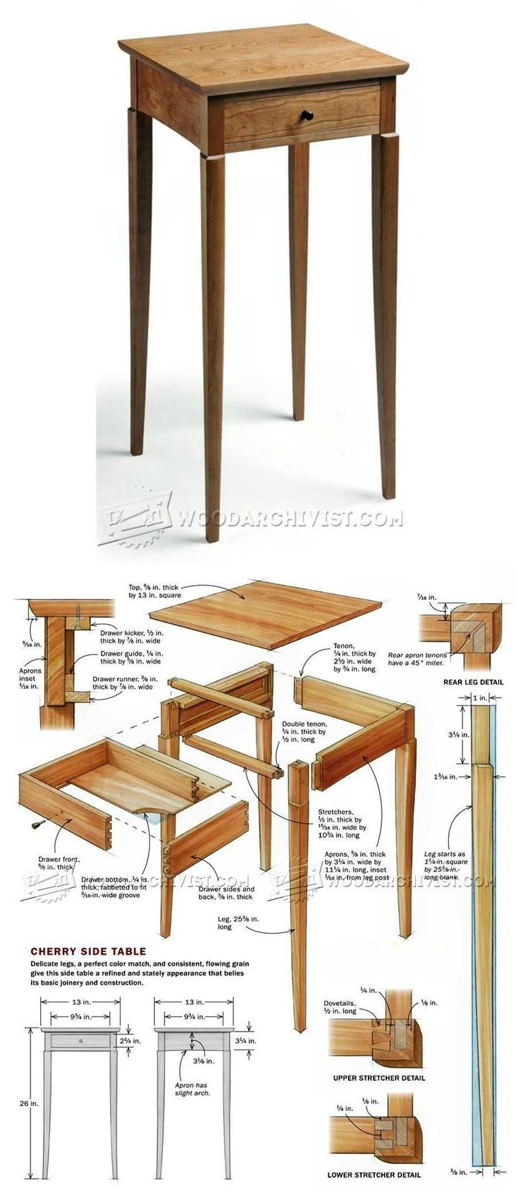 Build Side Table Furniture Plans And Projects Woodarchivist Com Woodworking Furniture Plans Woodworking Plans Diy Table Furniture Plans
