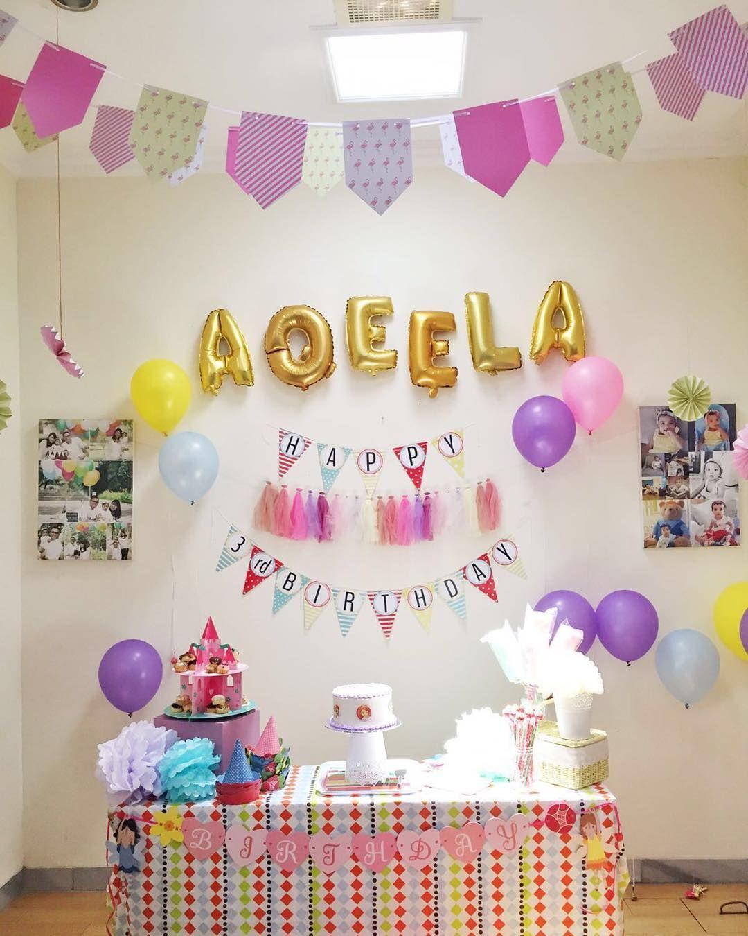 Dekorasi Kamar Ulang Tahun Romantis Sederhana Dengan Balon