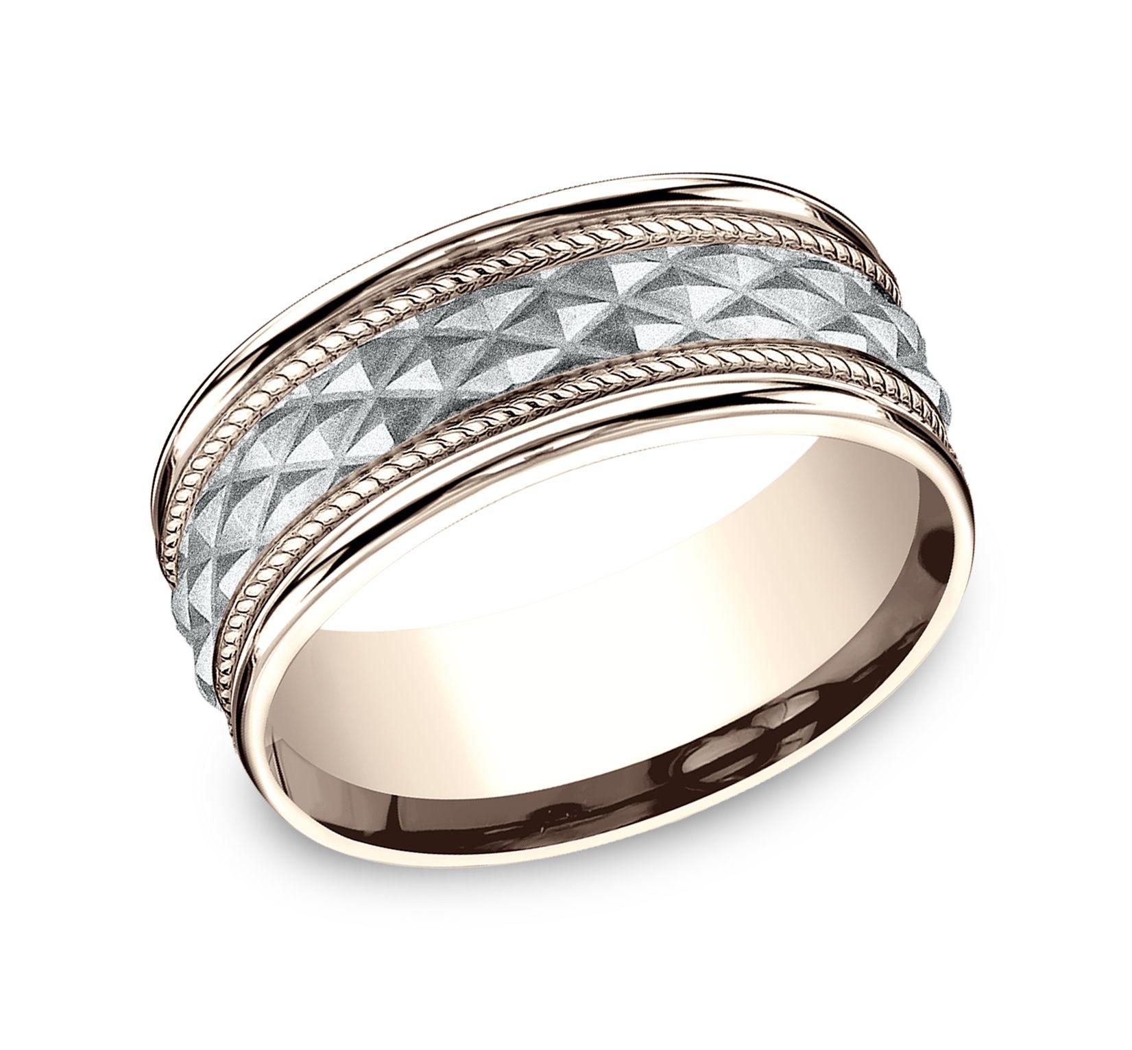 Benchmark Sculpted Wedding Bands Mens diamond wedding