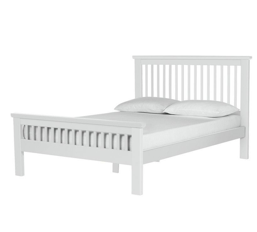 Buy Argos Home Aubrey Double Bed Frame White Bed Frames