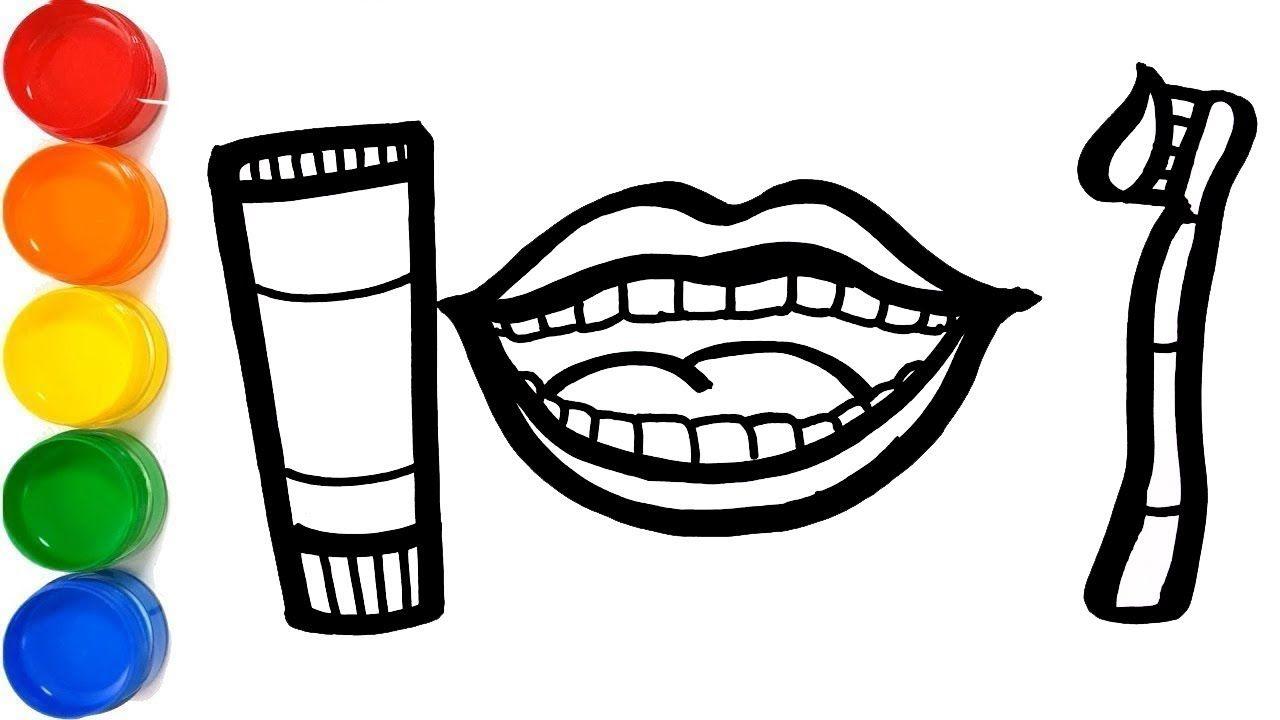 Cara Menggambar Dan Mewarnai Mainan Dokter Gigi Glitter Dentist