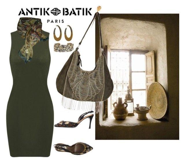 """~Antik Batik#3~"" by confusgrk ❤ liked on Polyvore featuring Antik Batik, René Caovilla, House of Harlow 1960 and AmiciMei"