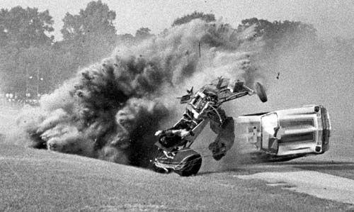 Horrific Funny Car crash 1 of 3
