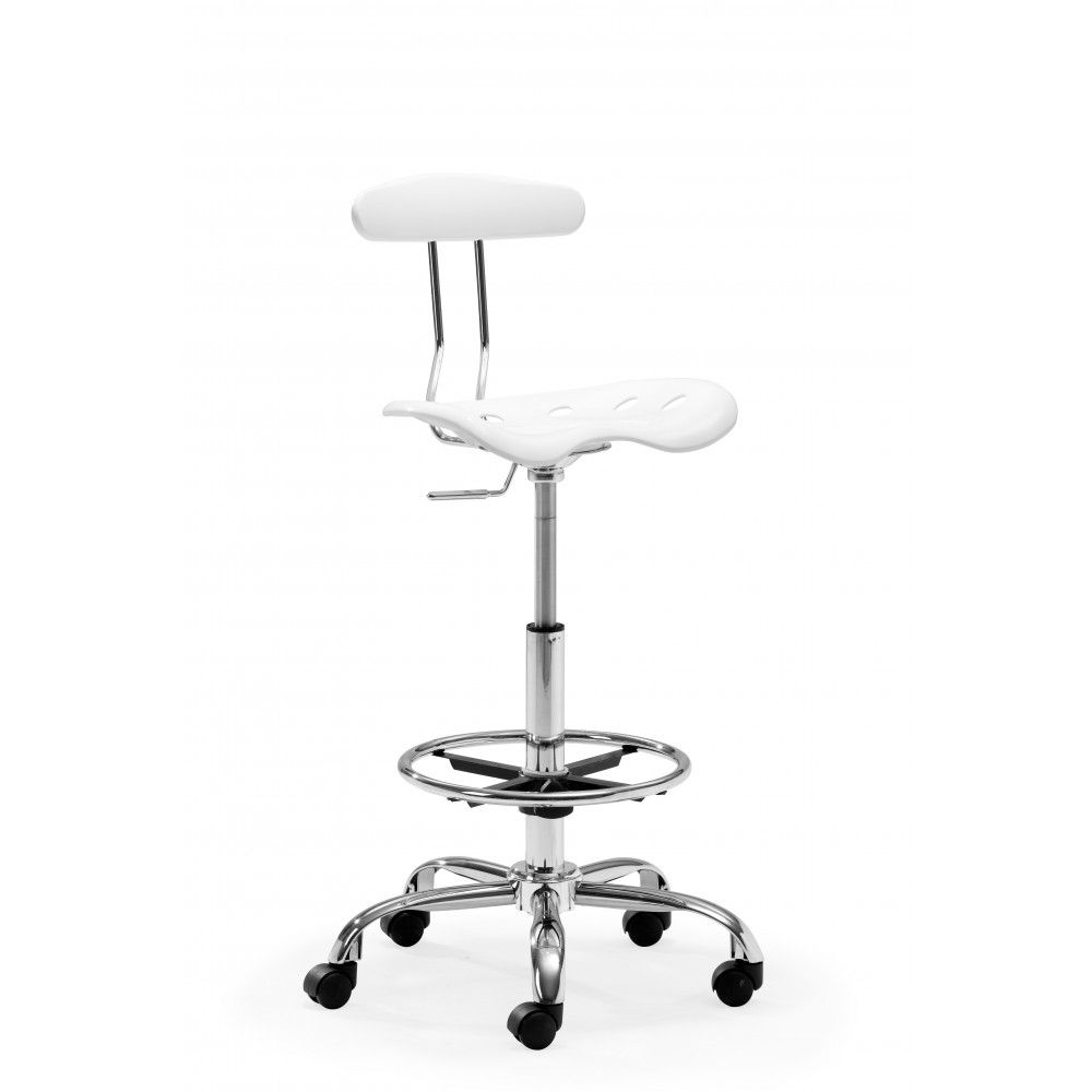 Zuo Modern, Farallon Drafters Chair, White