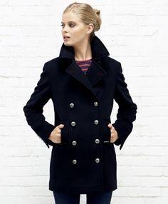 Femme D'esprit Cabans Vêtements Marin Duffle Coats Manteaux b6gY7fy