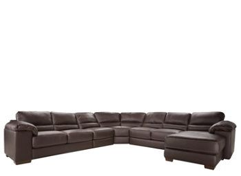 Cindy Crawford Maglie 5 Pc Leather Sectional Sofa Sectional