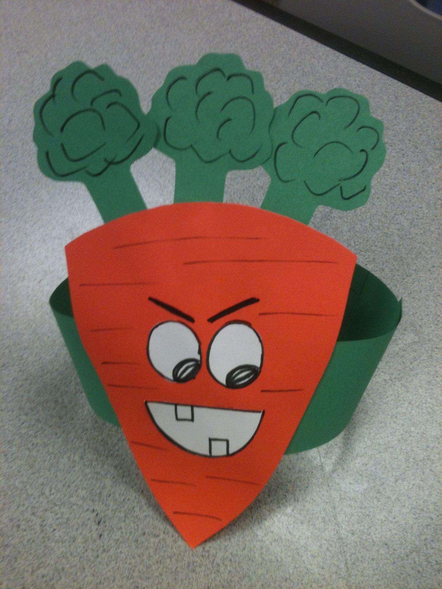 creepy carrot hat wear around storyfest construction paper