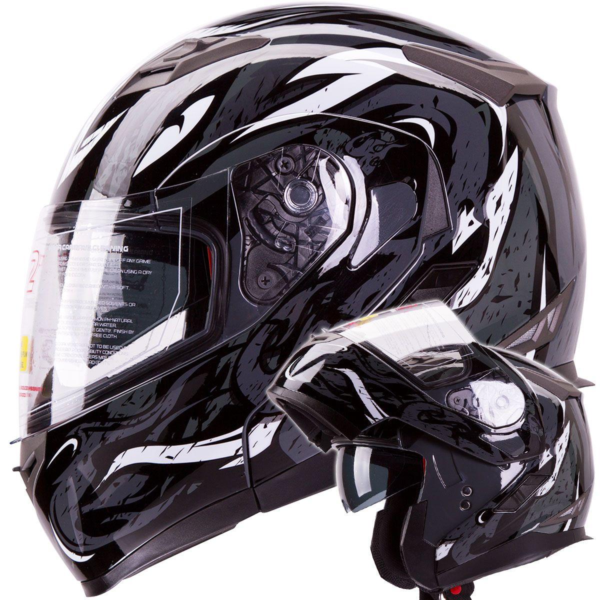 953VIPERBK0 Snowmobile helmets, Helmet, Modular