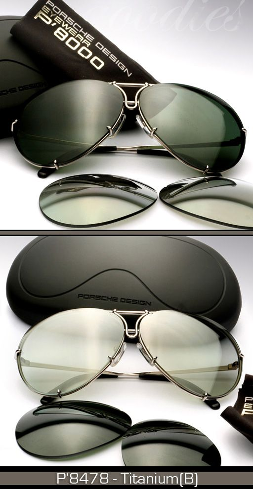 I LOVE our PD aviators so much! Sleek , durable, comfortable and stylish! Switch out the lenses for different looks! Porsche Design Heritage Collection