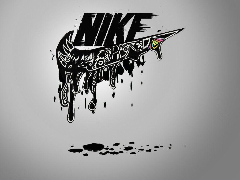 Nike Logo Dripping Nike Nike Ink Gangsta Nike Logo Logos Nike