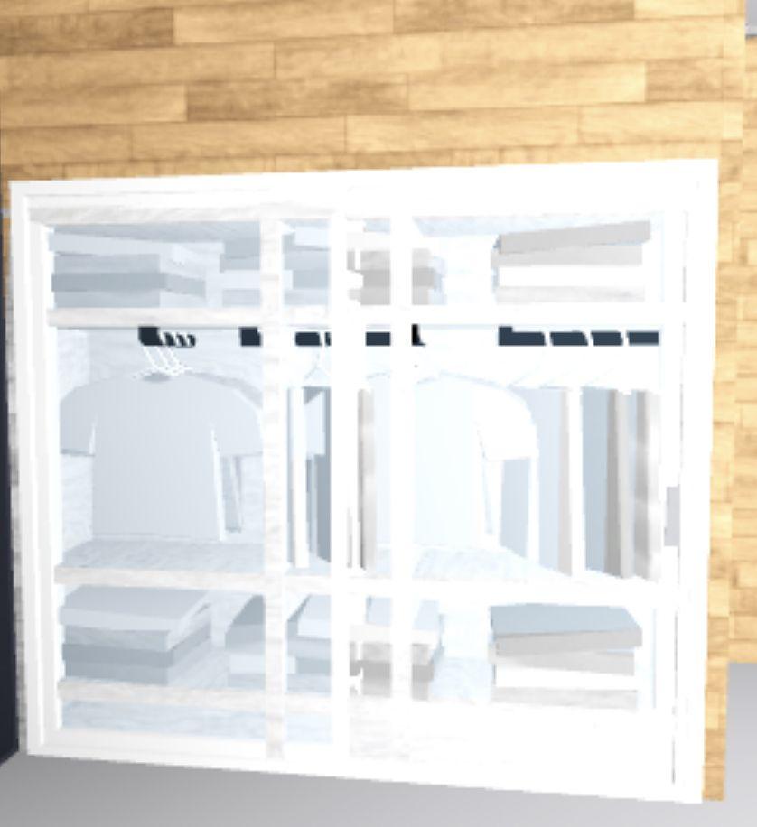 Cool Closet Design Bloxburg Roblox In 2020 Closet Design Sliding Glass Door Design