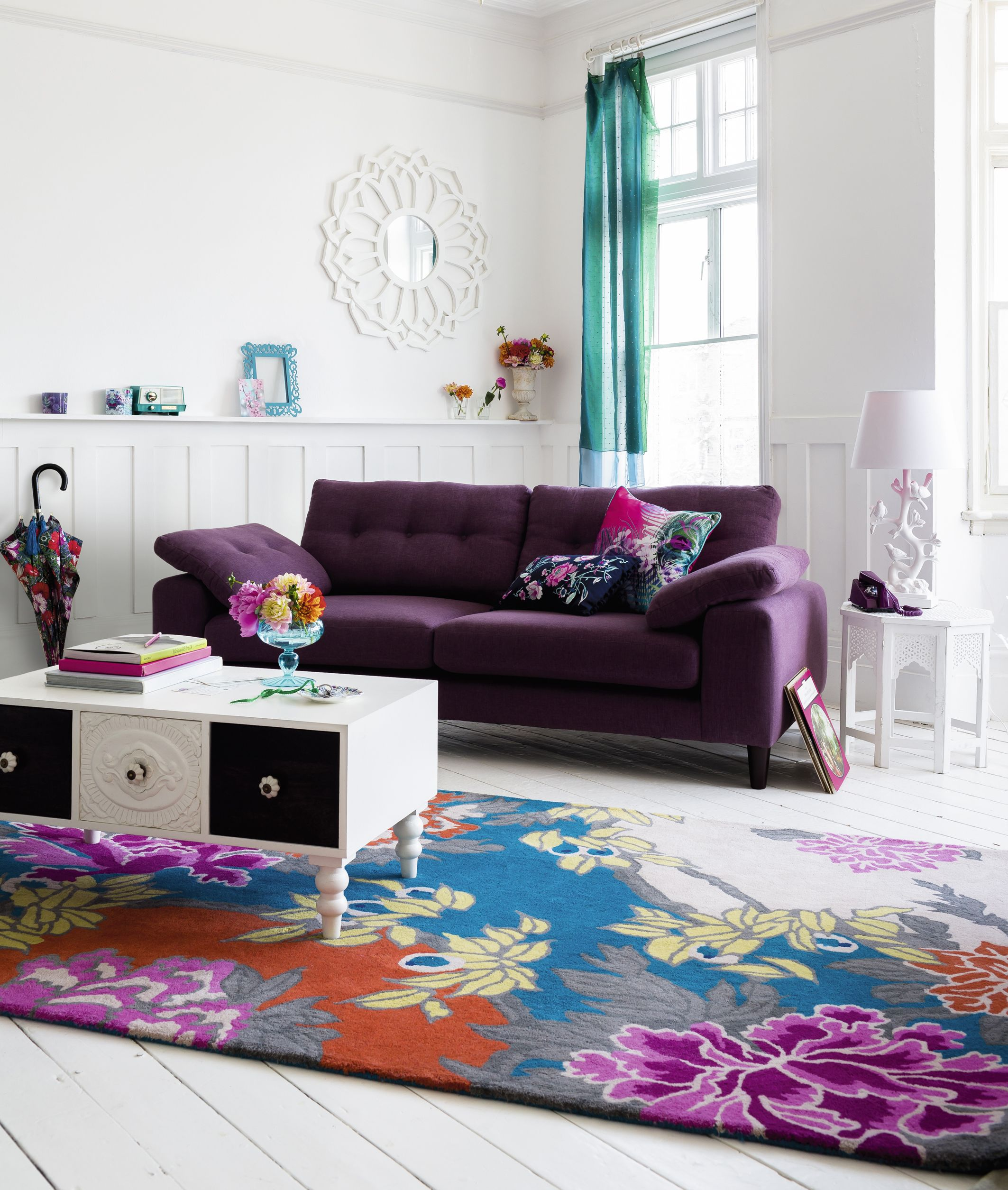 A Bright Patterned Room Full Of Colour And Florals Home Floral