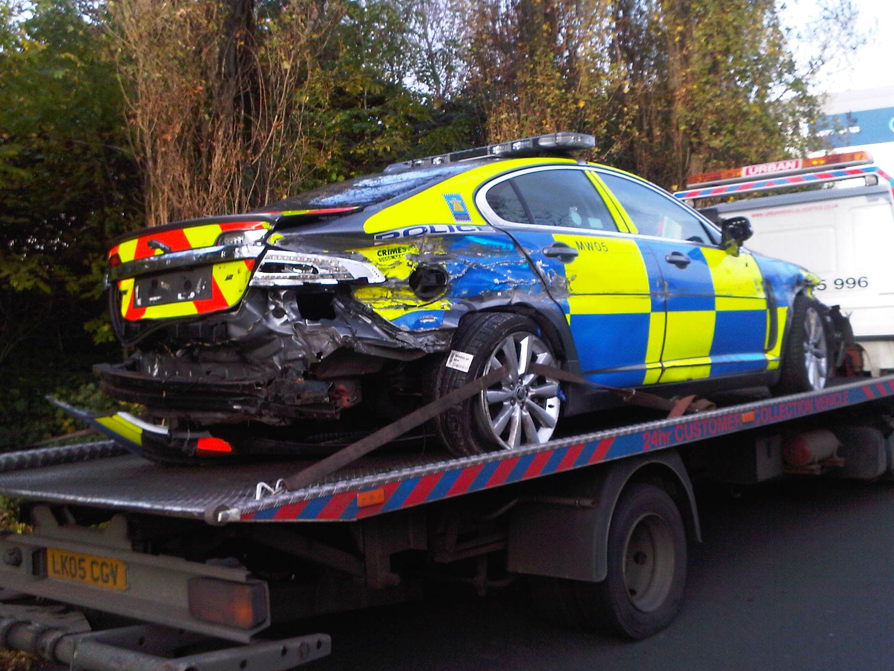 Wrecked Police Car In High Speed Pursuit Www Essexscrapandsalvage Co