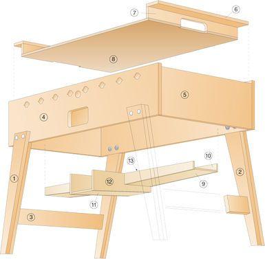 Kickertisch Selber Bauen Kicker Tisch Selber Bauen Holzspielzeug Selber Bauen
